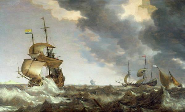 Wall Art - Painting - Storm At Sea by Bonaventura Peeters