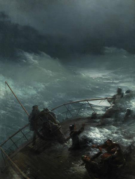 Wall Art - Painting - Storm At Sea by Ivan Konstantinovich Aivazovsky