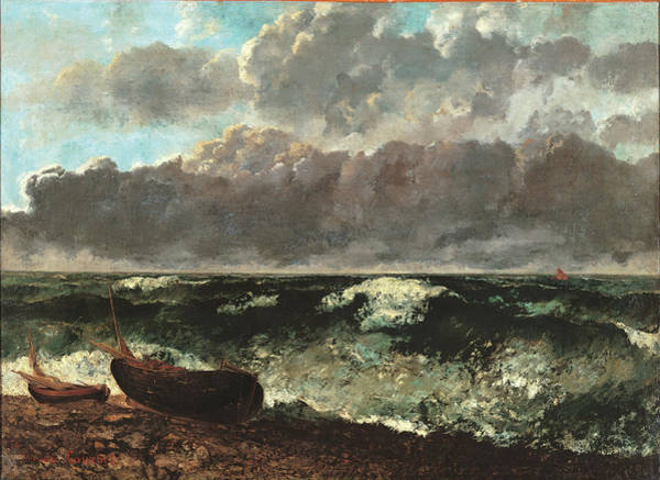 Painting - Stormy Sea, Also Known As The Wave, By by Mondadori Portfolio