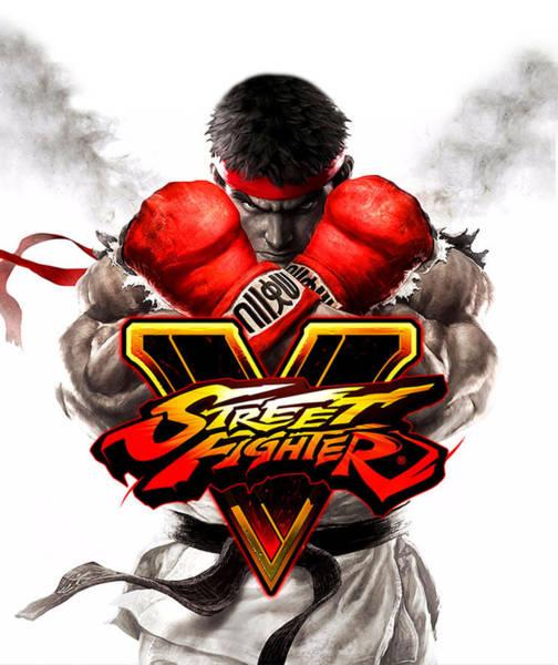 Wall Art - Digital Art - Street Fighter  by Geek N Rock