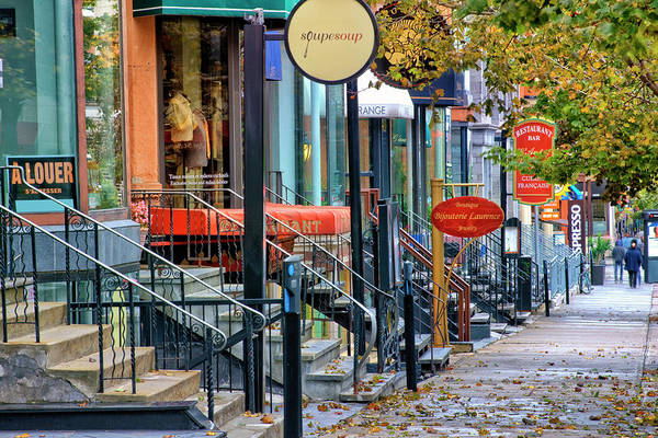 Quebec City Photograph - Street In Montreal by Visions Of Our Land