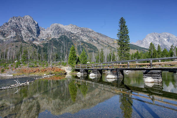 Photograph - String Lake And Bridge by Ronnie and Frances Howard