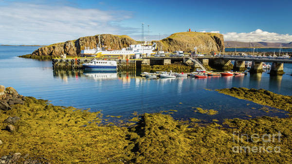 Photograph - Stykkisholmur Harbor, Iceland by Lyl Dil Creations