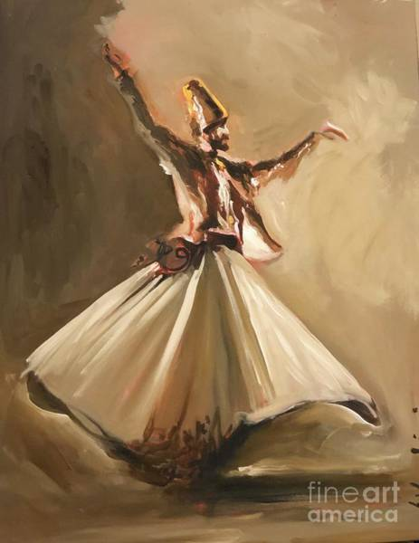 Art Print featuring the painting Sufi by Nizar MacNojia