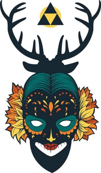 Deer Skull Digital Art - Sugar Skull by Passion Loft