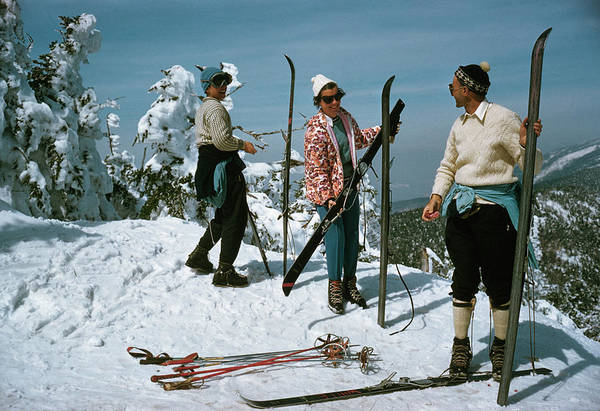 Smiling Photograph - Sugarbush Skiing by Slim Aarons