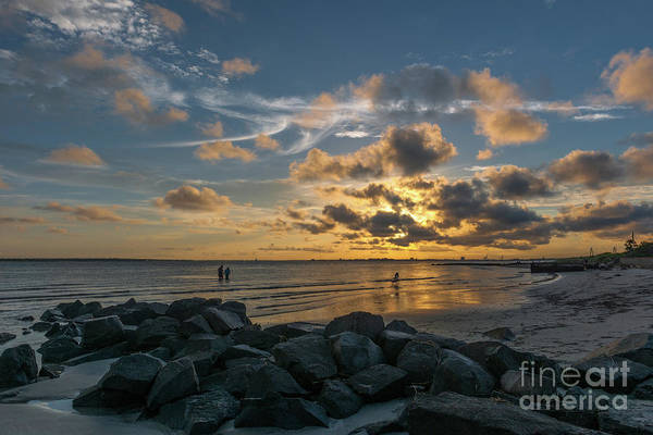 Photograph - Sullivan's Island - Beach Sunset by Dale Powell