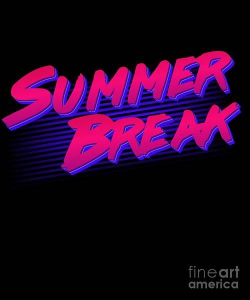 Digital Art - Summer Break Retro by Flippin Sweet Gear