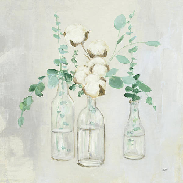Cotton Painting - Summer Cuttings II by Julia Purinton