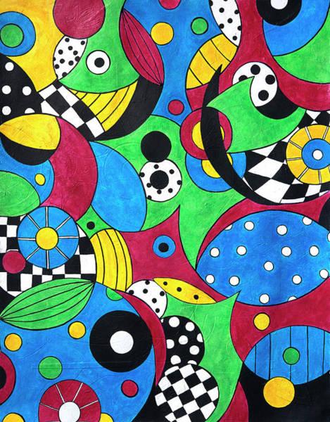 Wall Art - Painting - Summer Shuffle by Ellen Campbell