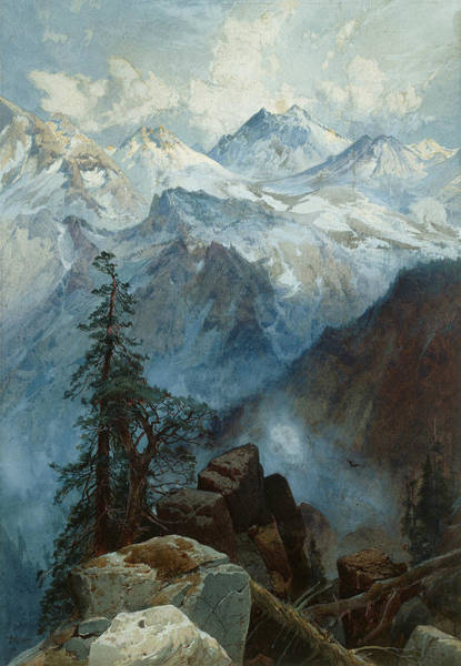 Wall Art - Painting - Summit Of The Sierras by Thomas Moran