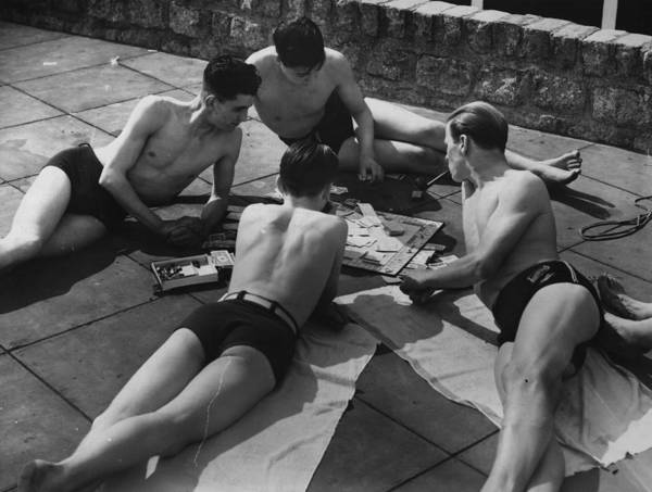 Monopoly Photograph - Sunbathing Games by Fox Photos