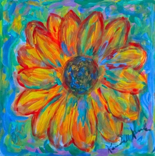 Painting - Bursting Sunflower by Kendall Kessler