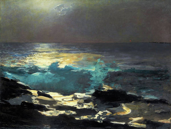 Blast Wave Wall Art - Painting - Sunlight On The Coast - Digital Remastered Edition by Winslow Homer