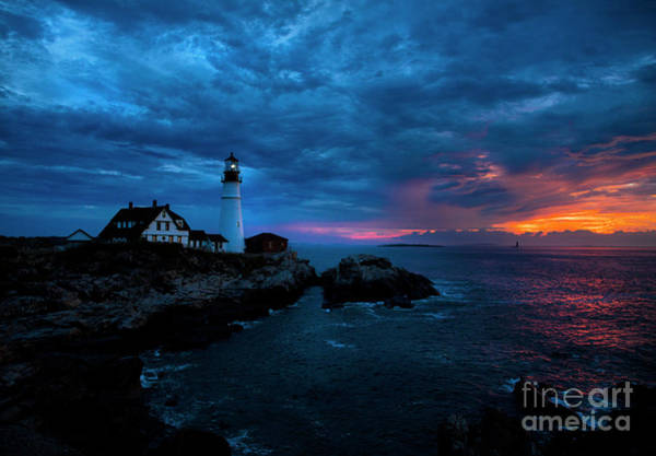 Wall Art - Photograph - Sunrise At Portland Head Light by Diane Diederich