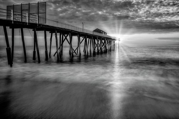 Wall Art - Photograph - Sunrise At The Jersey Shore Pier by Susan Candelario