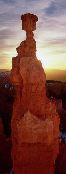 Wall Art - Photograph - Sunrise Behind A Cliff, Thors Hammer by Panoramic Images