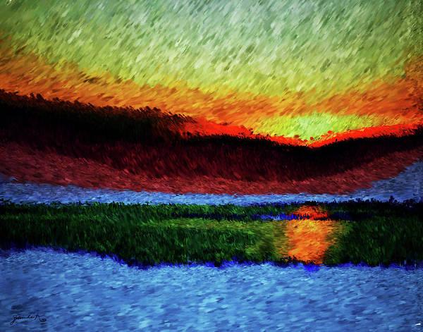 Painting - Sunrise by Gerlinde Keating - Galleria GK Keating Associates Inc