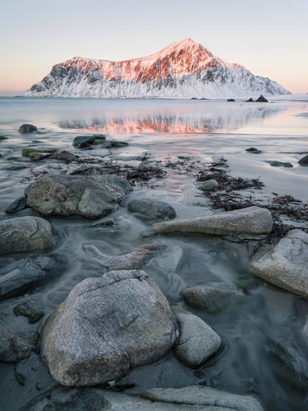 Wall Art - Photograph - Sunrise Over Flakstad And Skagsanden by Martin Zwick