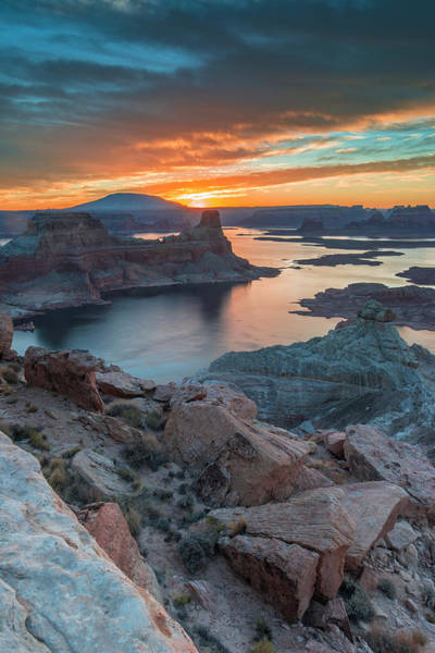 Wall Art - Photograph - Sunrise Over Padre Bay On Lake Powell by Howie Garber