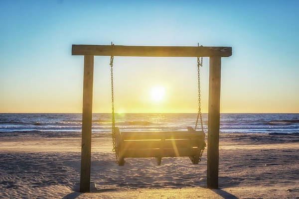 Photograph - Sunrise Swings by Framing Places