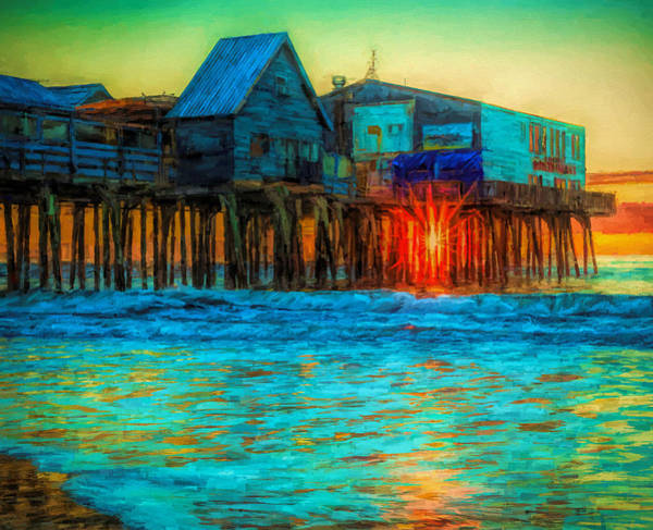 Painting - Sunrise Under The Pier by Dan Sproul