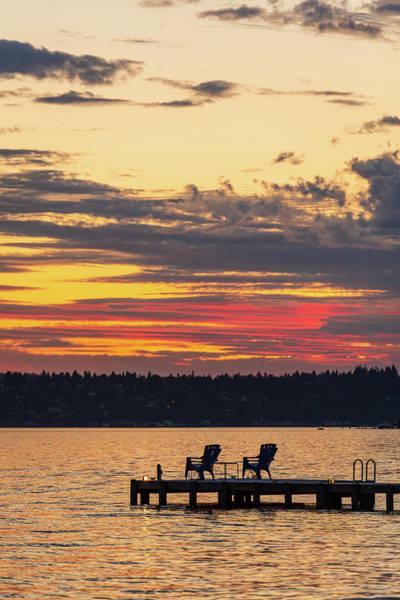 Digital Art - Sunset At Waverly Beach Park by Michael Lee