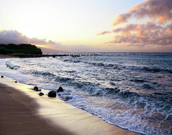 Wall Art - Painting - Sunset Beach by Bruce Nawrocke