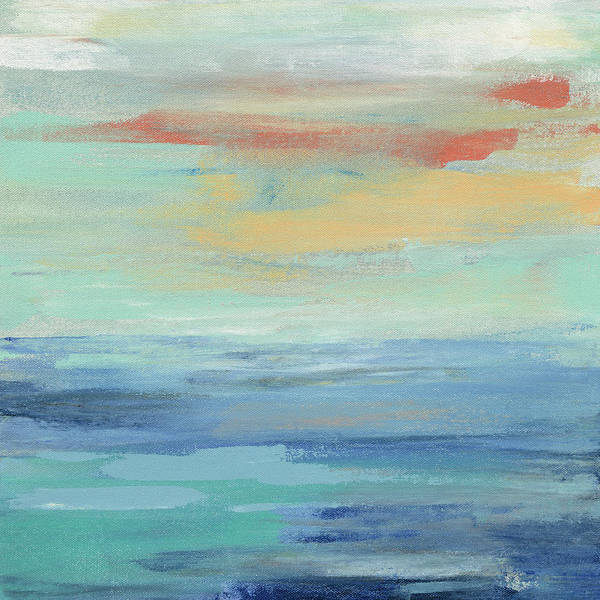 Wall Art - Painting - Sunset Beach II by Silvia Vassileva