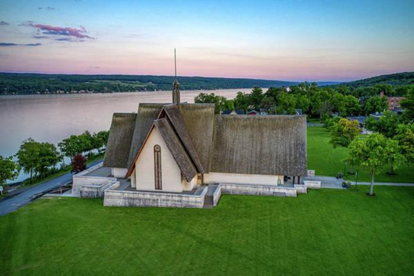 Photograph - Sunset Horizon Norton Chapel by Ants Drone Photography