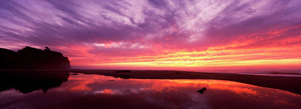 Wall Art - Photograph - Sunset Over Pomponio State Park, San by Panoramic Images