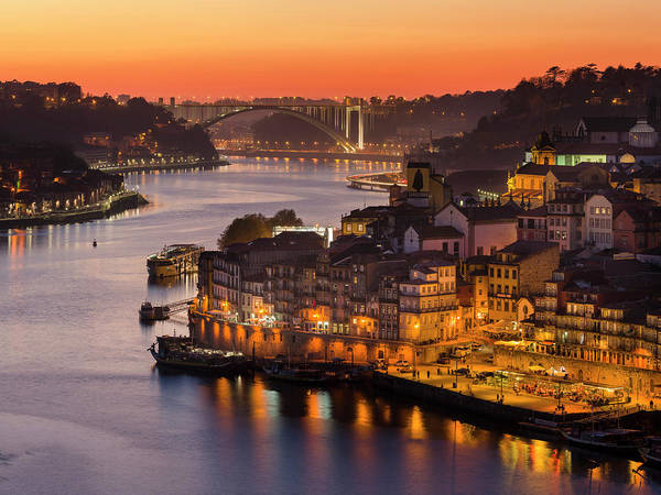 Iberian Peninsula Wall Art - Photograph - Sunset Over Rio Douro by Martin Zwick