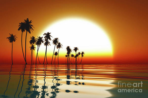 Wall Art - Photograph - Sunset Over Tropic Sea by Aleksey Tugolukov