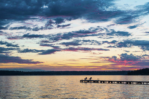 Digital Art - Sunset Waverly Beach Park by Michael Lee