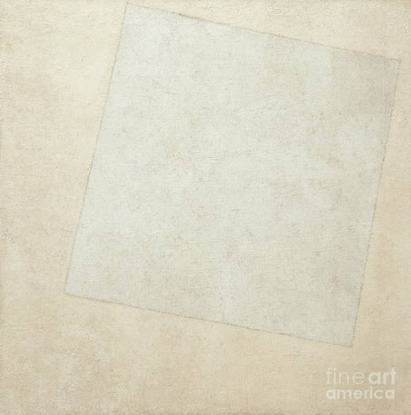 Wall Art - Painting - Suprematist Composition  White On White, 1918  by Kazimir Malevich