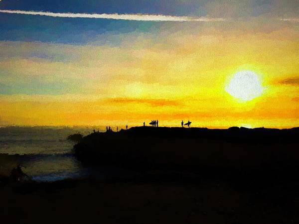 Wall Art - Photograph - Surfing At Sunset by Christina Ford