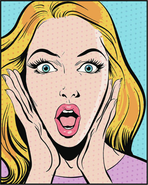 Digital Image Digital Art - Surprised Woman by Mcmillan Digital Art