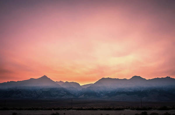 Photograph - surreal Owens Lake at sunset in California Usa by Alex Grichenko