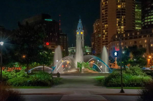 Wall Art - Photograph - Swann Fountain At Night - Philadelphia by Bill Cannon