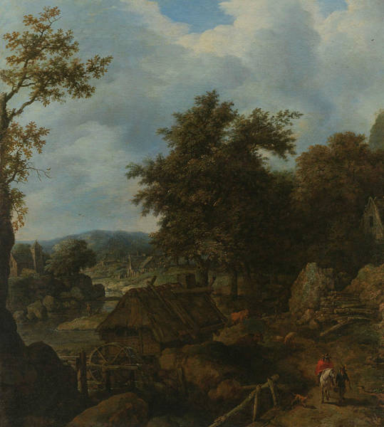 Wall Art - Painting - Swedish Landscape With A Water Mill by Allaert van Everdingen
