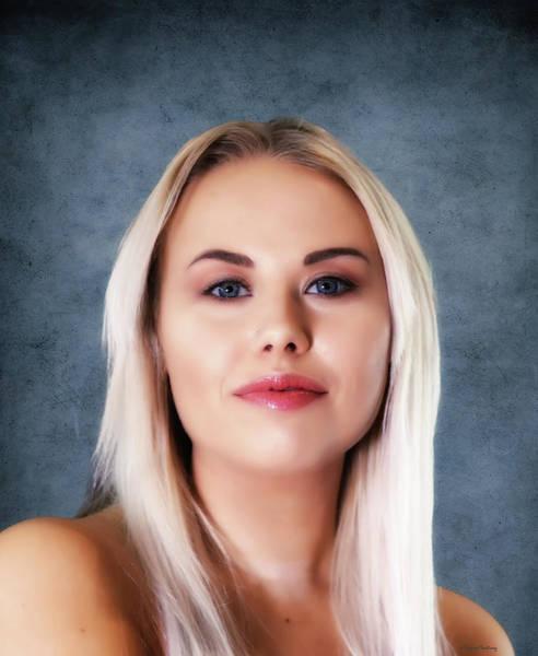 Wall Art - Pyrography - Swedish Woman Portrait I by Ramon Martinez