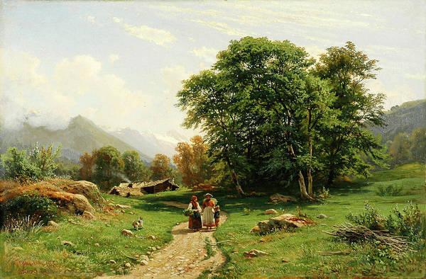 Wall Art - Painting - Swiss Landscape by Ivan Shishkin
