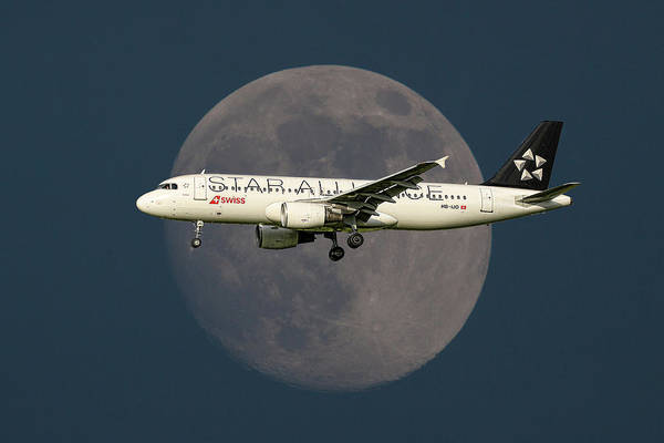 Wall Art - Mixed Media - Swiss Star Alliance Livery Airbus A320-214 by Smart Aviation