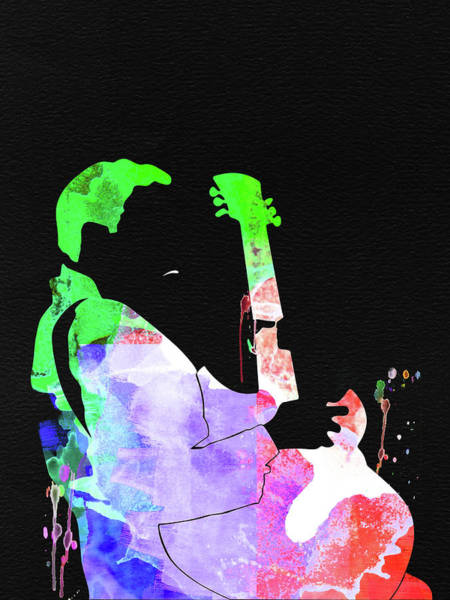 Wall Art - Mixed Media - T-bone Walker Watercolor by Naxart Studio