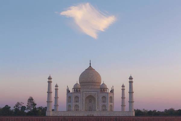 Photograph - Taj Mahal At Sunset by Maria Heyens