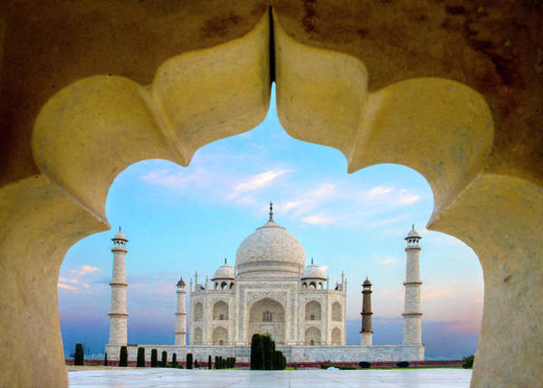 Wall Art - Photograph - Taj Mahal Exterior View, Agra, Uttar by Panoramic Images