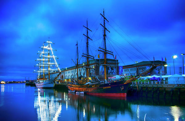 Photograph - Tall Ships On Boston Harbor by Joann Vitali