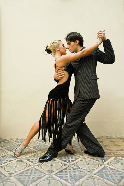 Wall Art - Photograph - Tango Dancers, Argentina, Buenos Aires by David Sanger