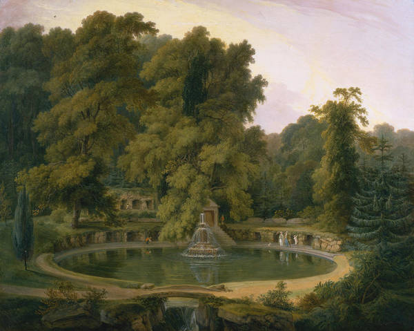 Painting - Temple, Fountain And Cave In Sezincote Park by Thomas Daniell