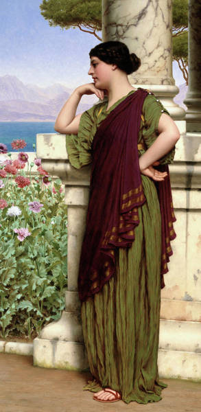 Wall Art - Painting - Tender Thoughts by John William Godward